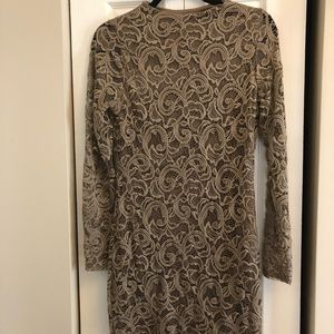 Tan lace overlay dress from Windsor